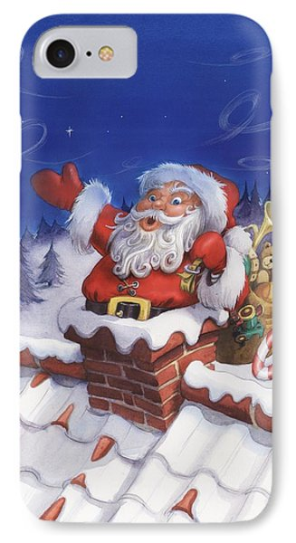 Santa Chimney IPhone Case
