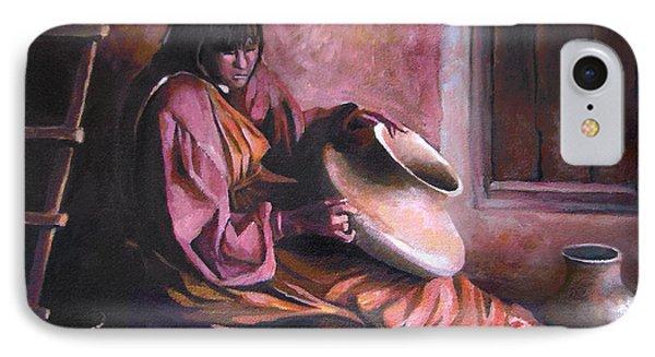 Santa Clara Potter IPhone Case by Nancy Griswold