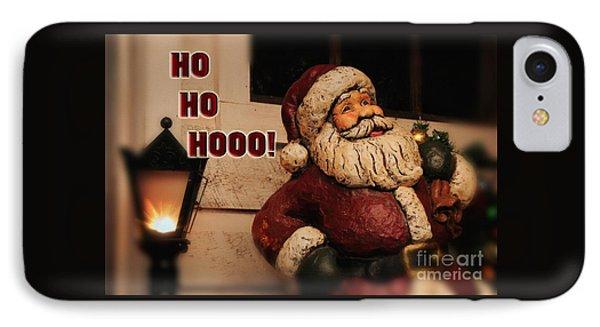 Santa Claus Christmas Card Phone Case by Lois Bryan