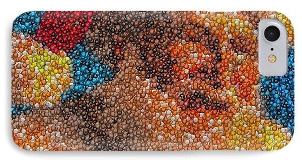 IPhone Case featuring the mixed media Santa Claus Mm Candy Mosaic by Paul Van Scott