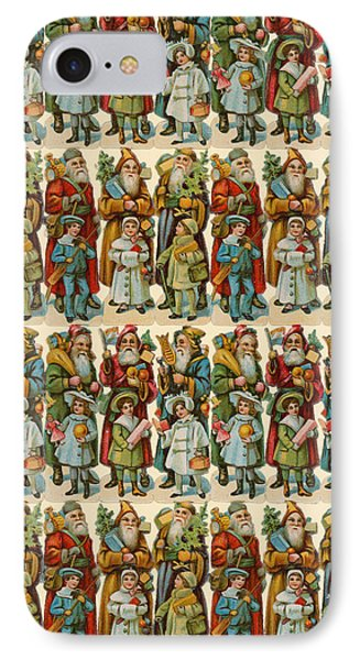 Santa Claus With Children IPhone Case by American School