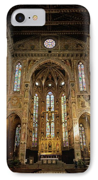 IPhone Case featuring the photograph Santa Croce Florence Italy by Joan Carroll