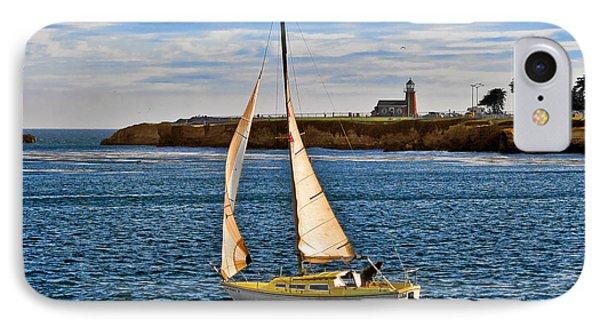 Santa Cruz Mark Abbott Memorial Lighthouse Ca  IPhone Case by Christine Till
