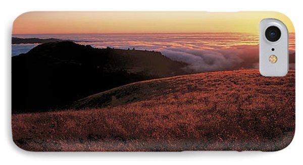 Santa Cruz Mountains At Sunset Ca Usa IPhone Case by Panoramic Images