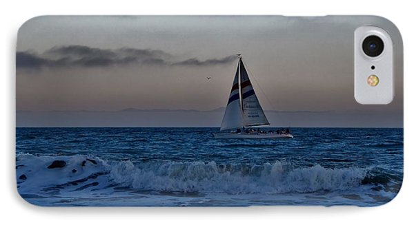 Santa Cruz Sail IPhone Case by Marilyn MacCrakin