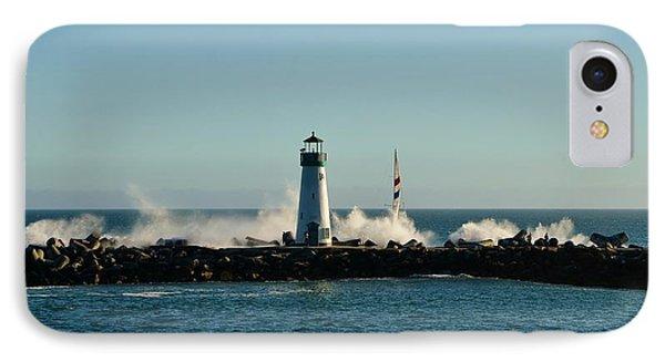 Santa Cruz Walton Lighthouse IPhone Case by Marilyn MacCrakin