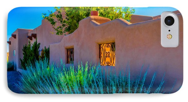 Santa Fe Adobe IPhone Case by Ken Stanback