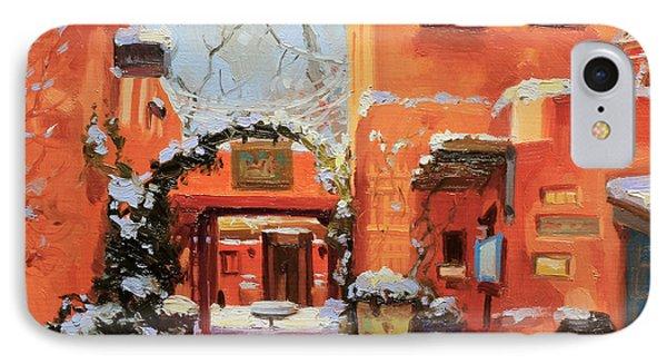 Santa Fe Cafe IPhone Case by Gary Kim