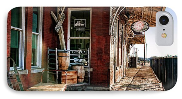 Santa Fe Depot Of Guthrie IPhone Case by Lana Trussell