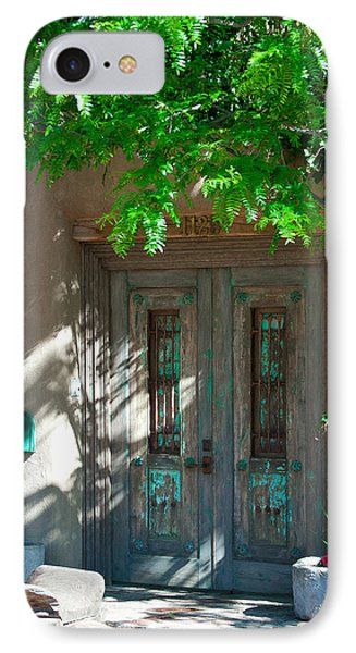Santa Fe Door IPhone Case by David Patterson