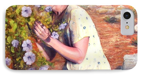 IPhone Case featuring the painting Santa Fe Garden 2   by Donelli  DiMaria