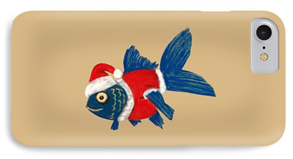 Santa Fish IPhone Case by Anastasiya Malakhova