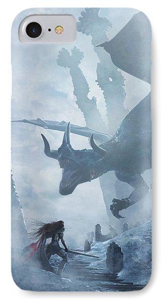 Dragon iPhone 7 Case - Santa Georgina Vs The Dragon by Guillem H Pongiluppi