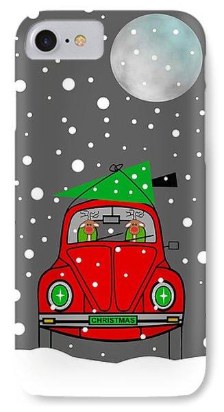 Santa Lane IPhone Case by Kathleen Sartoris