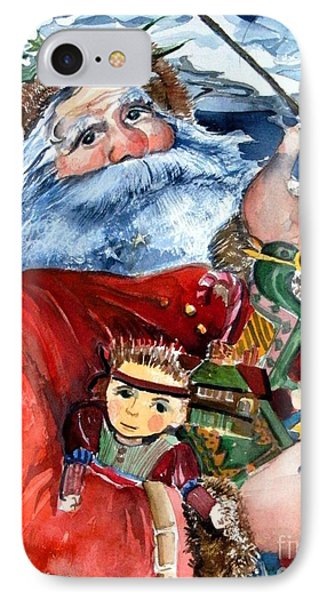 Santa IPhone Case by Mindy Newman