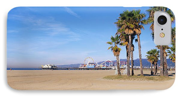 Santa Monica Beach Ca IPhone 7 Case by Panoramic Images