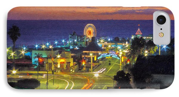 IPhone Case featuring the photograph Santa Monica Ca  Pacific Park Pier by David Zanzinger