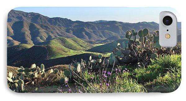 IPhone Case featuring the photograph Santa Monica Mountains - Cactus Hillside View by Matt Harang