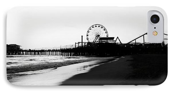 Santa Monica Pier Black And White Panoramic Photo IPhone Case