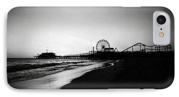 Santa Monica Pier Black And White Photography IPhone Case