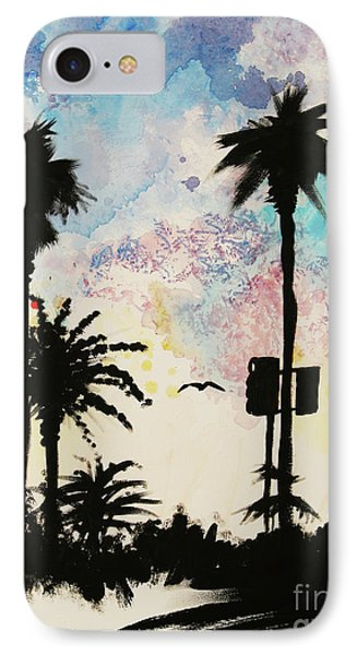 Santa Monica Pier - Center Two Of Three IPhone Case by Ashlynn Apffel