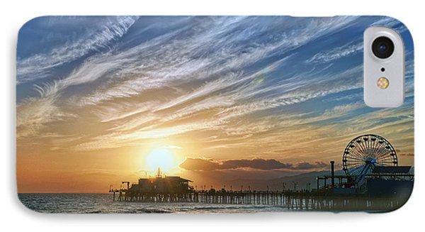 Santa Monica Pier Phone Case by Eddie Yerkish