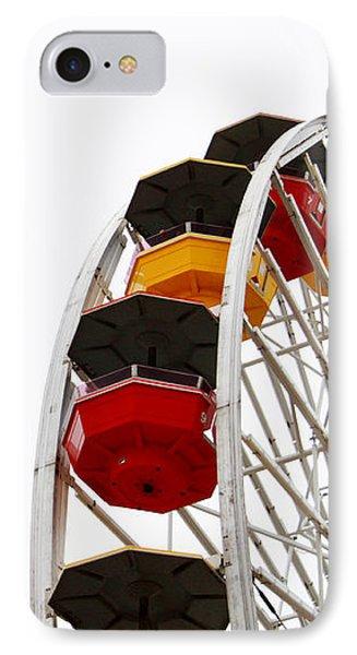 Santa Monica Pier Ferris Wheel- By Linda Woods IPhone 7 Case by Linda Woods