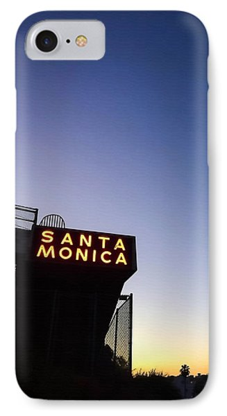 Santa Monica Sunrise IPhone 7 Case by Art Block Collections