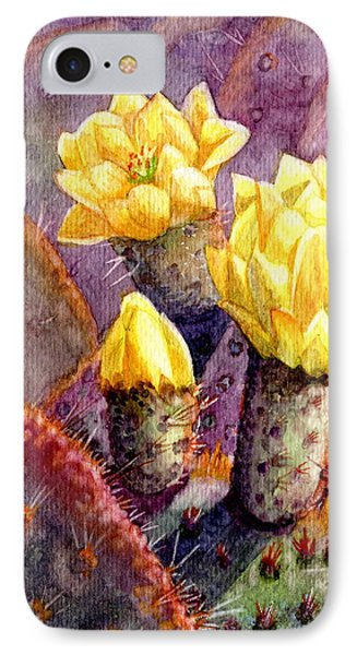 IPhone Case featuring the painting Santa Rita Prickly Pear Cactus by Marilyn Smith