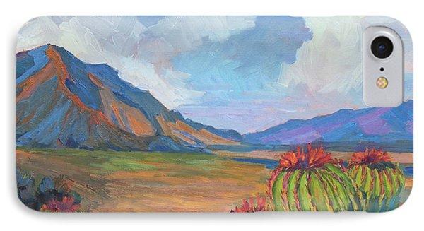 Santa Rosa Mountains And Barrel Cactus IPhone Case