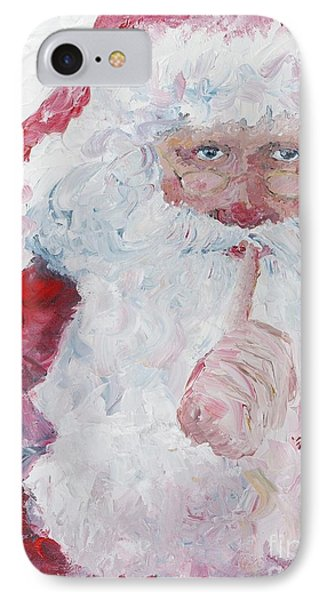 Santa Shhhh Phone Case by Nadine Rippelmeyer