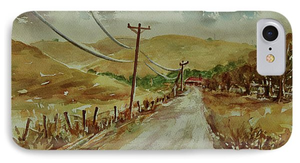 IPhone Case featuring the painting Santa Teresa County Park California Landscape 3 by Xueling Zou