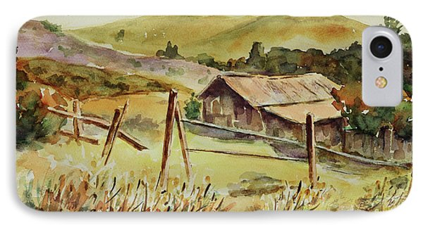 IPhone Case featuring the painting Santa Teresa County Park California Landscape 4 by Xueling Zou