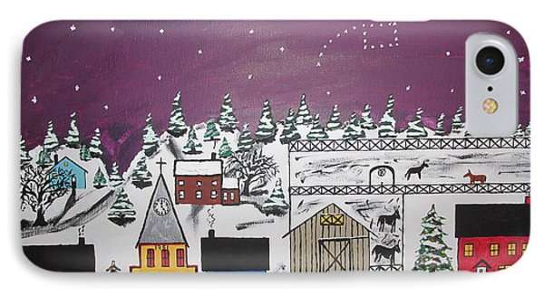 Santa Under The Little Dipper Phone Case by Jeffrey Koss