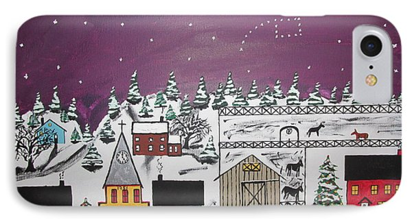 IPhone Case featuring the painting Santa Under The Little Dipper by Jeffrey Koss
