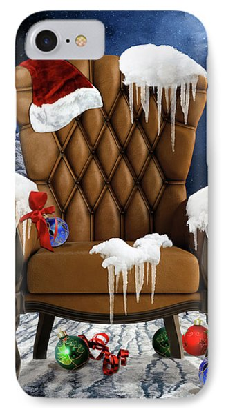 Santa's Chair IPhone Case by Mihaela Pater