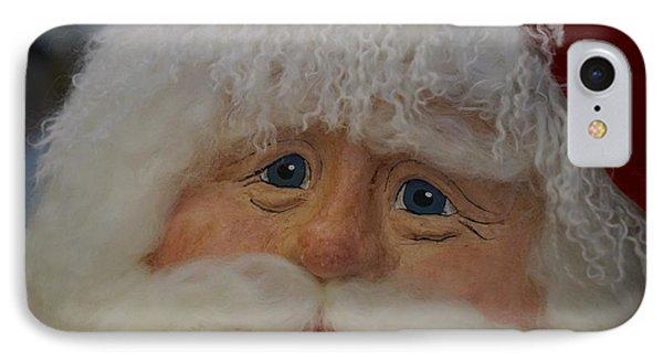 Santa's Compassionate Face IPhone Case by Shirley Stevenson Wallis
