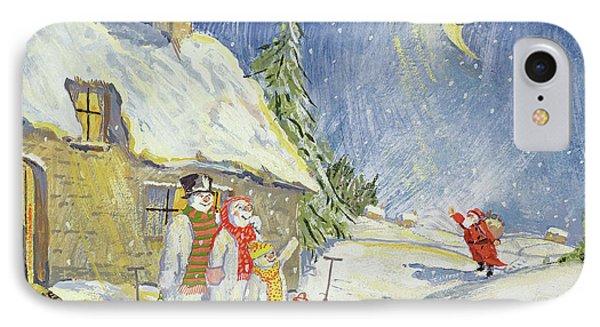 Santa's Visit IPhone Case by David Cooke