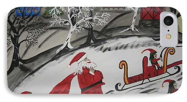 IPhone Case featuring the painting Santa's Work Is Done  by Jeffrey Koss