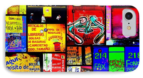 Santiago Funky Walls  IPhone Case by Funkpix Photo Hunter