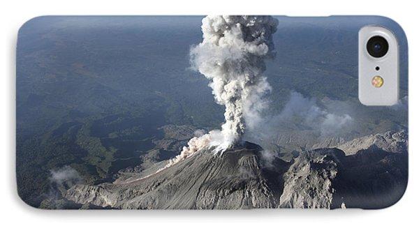 Santiaguito Ash Eruption, Guatemala Phone Case by Martin Rietze