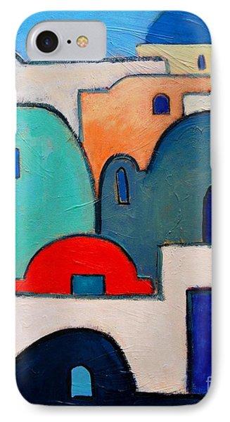 Santorini Cityscape Phone Case by Ana Maria Edulescu