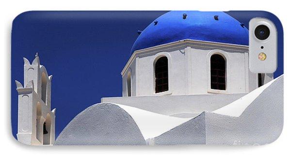 Santorini Greece Architectual Line 2 IPhone Case by Bob Christopher