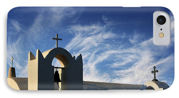 IPhone Case featuring the photograph Santorini Greece Architectual Line 3 by Bob Christopher
