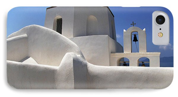 IPhone Case featuring the photograph Santorini Greece Architectual Line 4 by Bob Christopher