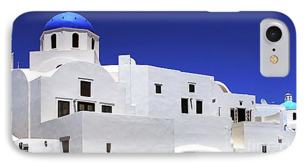 IPhone Case featuring the photograph Santorini Greece Architectual Line 6 by Bob Christopher