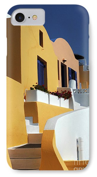 IPhone Case featuring the photograph Santorini Greece Architectual Line by Bob Christopher