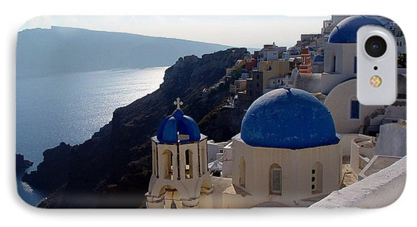 IPhone Case featuring the photograph Santorini Greece by Nancy Bradley