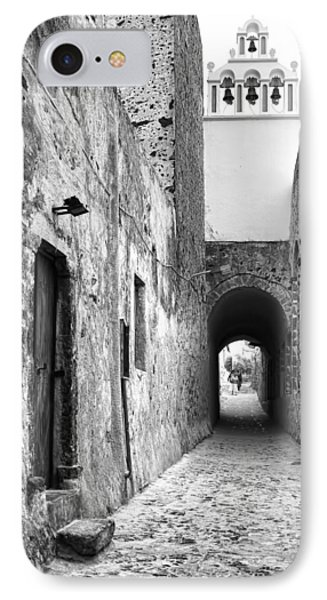 Santorini Passageway Bw IPhone Case