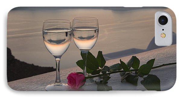 Santorini Romance IPhone Case